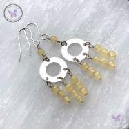 Aragonite Chandelier Earrings